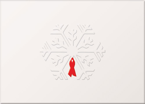 Embossed Snowflake Holiday Card