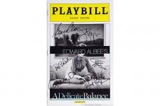 Full Cast Glenn Close Signed DELICATE BALANCE Opening Playbill