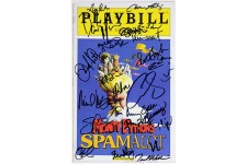 Cast Ramirez Borle Tudyk Curry Signed SPAMALOT Playbill