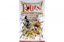 Cast Rob McClure Adam Pascal Signed SOMETHING ROTTEN Poster
