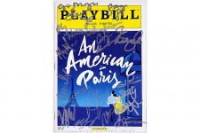 Cast Fairchild, Cope Signed AMERICAN IN PARIS Playbill