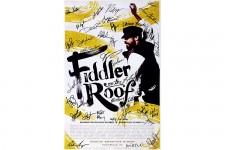 FIDDLER ON THE ROOF Cast Kuhn Burstein Signed Poster