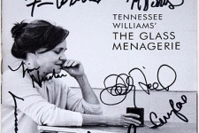 Full Cast Mantello, Field Signed GLASS MENAGERIE Playbill
