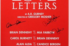 LOVE LETTERS Full Run Cast Alda Farrow Burnett Signed Poster