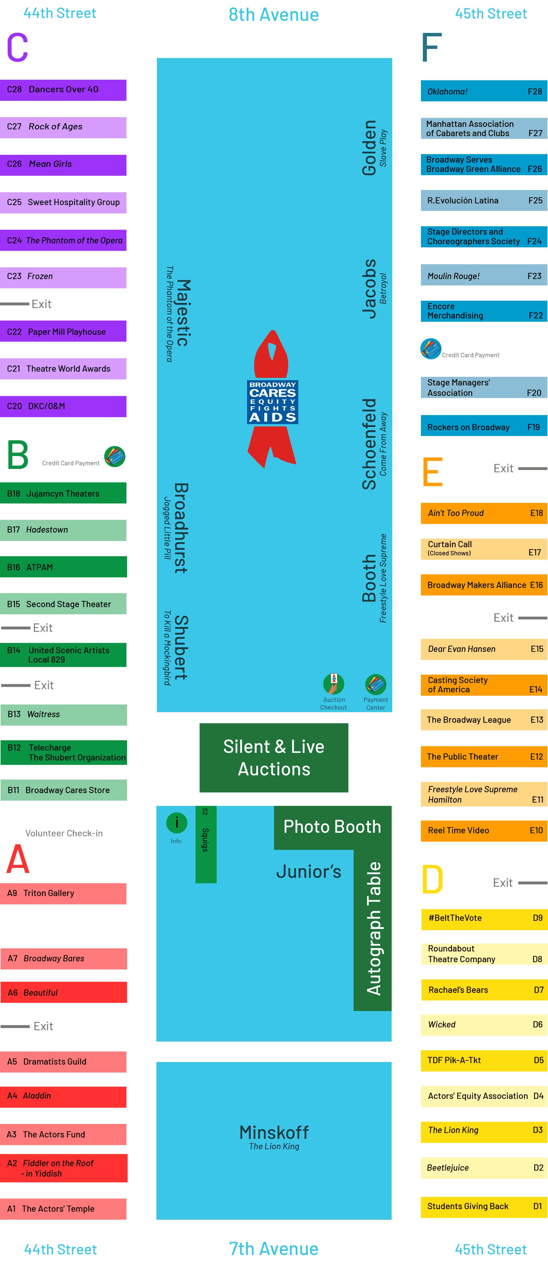 Broadway Flea Market & Grand Auction 2019 Map